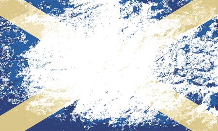 scottish flag: Scottish flag. Grunge background. Vector illustration