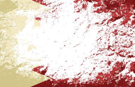 bahrain: Bahrain flag. Grunge background. Vector illustration