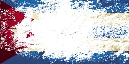Cuban flag. Grunge background. Vector illustration Vector