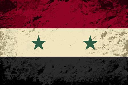 syrian: Syrian flag. Grunge background. Vector illustration Illustration