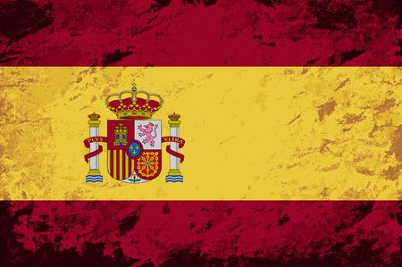 bandiera spagnola: Bandiera spagnola. Grunge. Illustrazione vettoriale