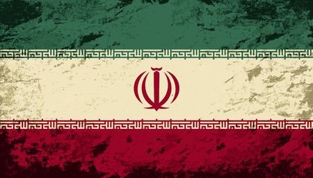 iranian: Iranian flag. Grunge background. Vector illustration