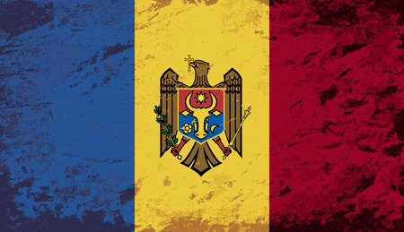 moldovan: Moldovan flag. Grunge background. Vector illustration Illustration