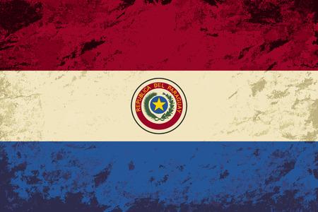 paraguayan: Paraguayan flag. Grunge background. Vector illustration