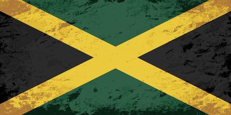 jamaican: Bandera de Jamaica. Grunge fondo. Ilustraci�n vectorial