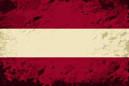 austrian flag: Austrian flag. Grunge background. Vector illustration