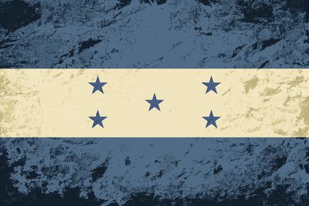 bandera de honduras: Bandera de Honduras. Grunge fondo. Ilustraci�n vectorial Vectores