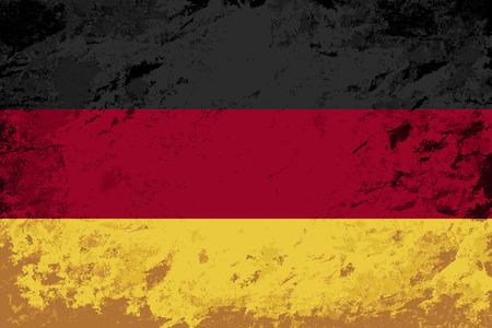 germany flag: Germany flag. Grunge. Illustrazione vettoriale