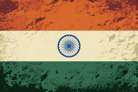 national flag: Indian flag. Grunge background. Vector illustration