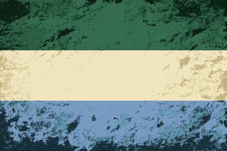 sierra leone: Sierra Leone flag. Grunge background. Vector illustration