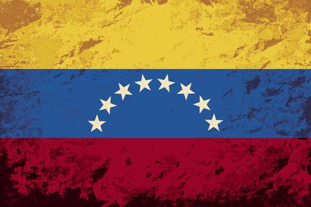 venezuelan: Bandera de Venezuela. Grunge fondo. Ilustraci�n vectorial