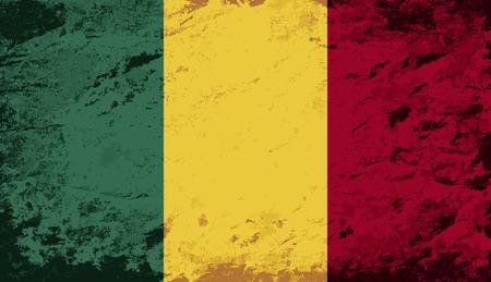 Malian flag. Grunge background. Vector illustration Vector