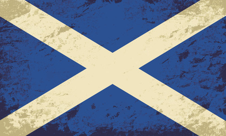 scottish flag: Bandiera scozzese. Grunge. Illustrazione vettoriale