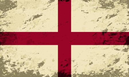 english flag: English flag. Grunge background. Vector illustration