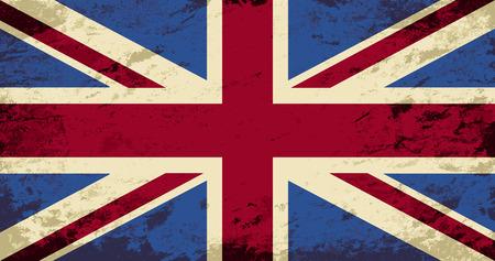 bandera de gran breta�a: Gran Breta�a bandera. Grunge fondo. Ilustraci�n vectorial Vectores