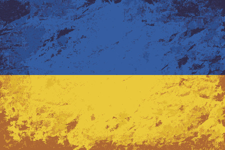ukrainian flag: Ukrainian flag. Grunge background. Vector illustration