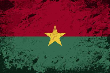 burkina faso: Burkina Faso flag. Grunge background. Vector illustration