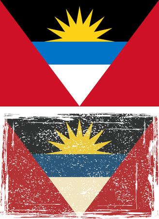 antigua: Antigua and Barbuda grunge flag. Vector illustration Illustration