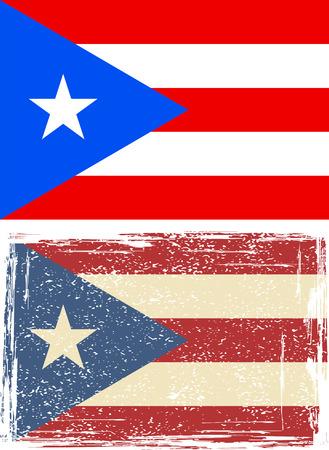 puerto rico: Puerto Rico grunge flag. Vector illustration Illustration