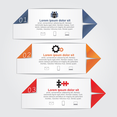 Infographics with paper arrows. Vector illustration Vector