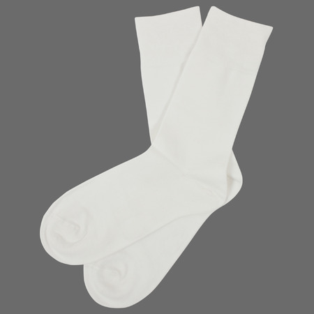 Pair of socks. Isolated on gray background Stock Photo