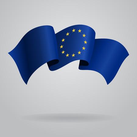 European Union waving Flag. Vector illustration Vector