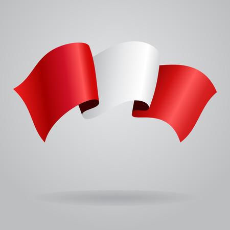 peruvian: Peruvian waving Flag. Vector illustration Illustration