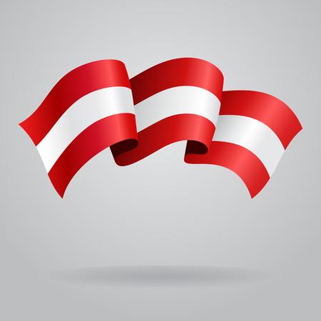 austrian: Austrian waving Flag. Vector illustration Illustration