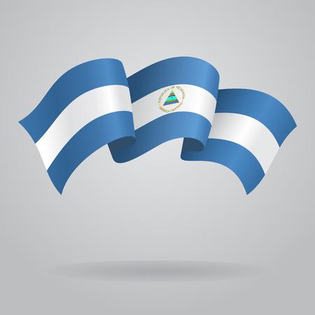 nicaraguan: Nicaraguan waving Flag. Vector illustration