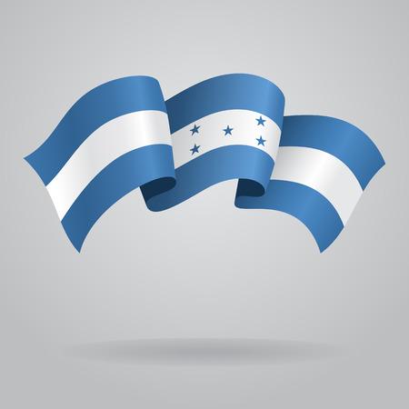 honduras: Honduras waving Flag. Vector illustration Illustration