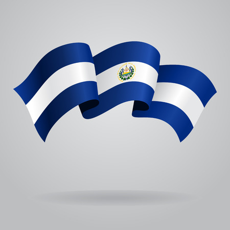 el salvador: El Salvador waving Flag. Vector illustration Illustration