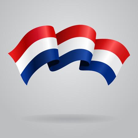 dutch: Dutch waving Flag. Vector illustration Illustration