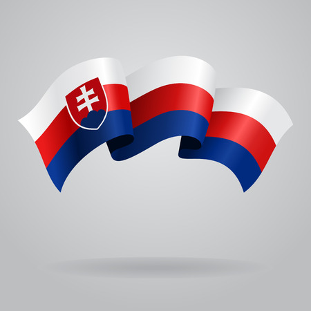 slovak: Slovak waving Flag. Vector illustration Illustration