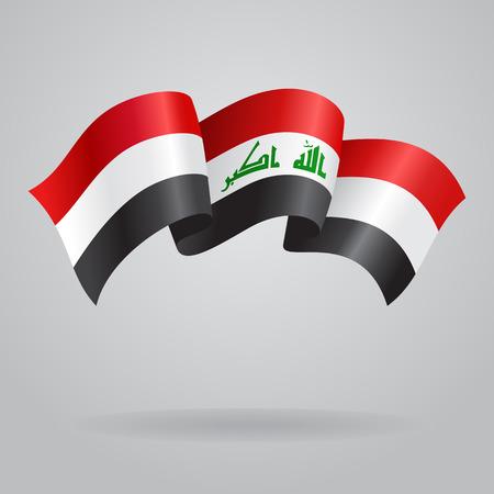 iraqi: Iraqi waving Flag. Vector illustration