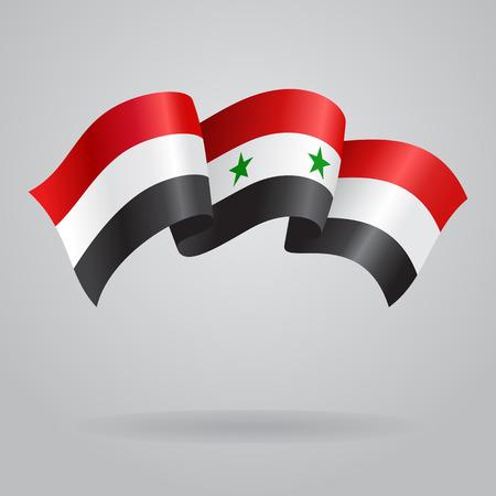 Syryjski: Syryjska Waving flag. Ilustracji wektorowych