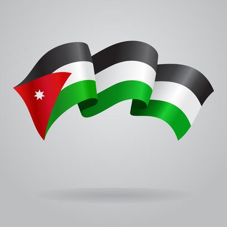 jordanian: Jordan zwaaien Vlag. Vector illustratie