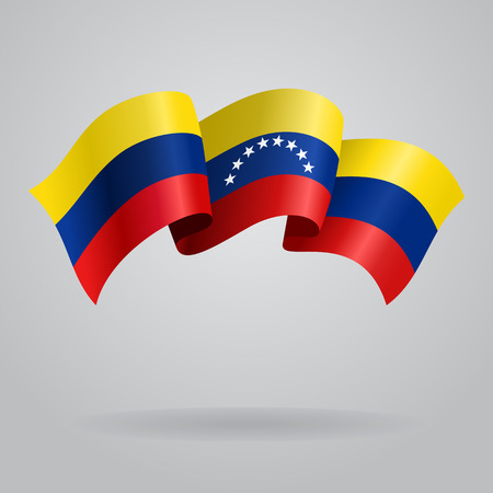 venezuelan: Bandera que agita de Venezuela. Ilustraci�n vectorial