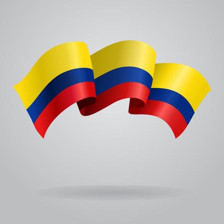 colombian: Colombian waving Flag. Vector illustration Eps 8. Illustration