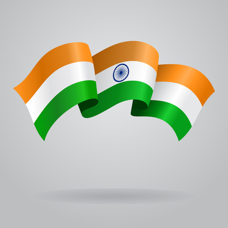 national flag: Indian waving Flag. Vector illustration