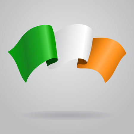 irish pride: Irish waving Flag. Vector illustration