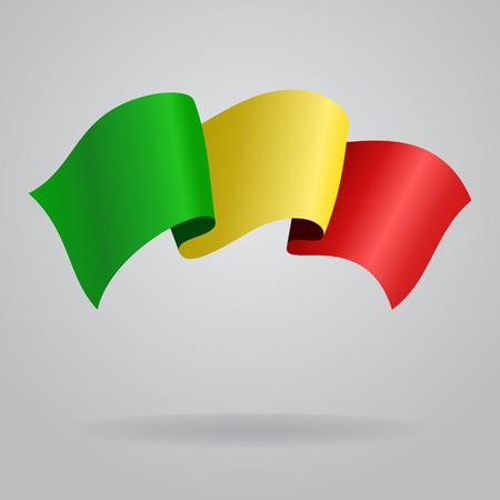 Malian waving Flag. Vector illustration Vector