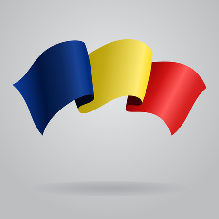 romanian: Romanian waving Flag. Vector illustration