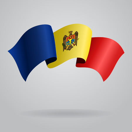 moldovan: Moldovan waving Flag. Vector illustration