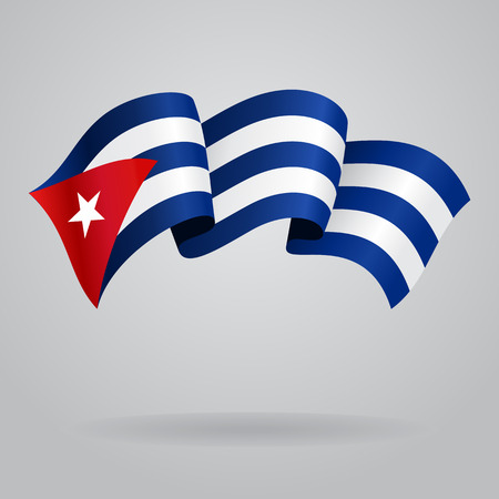 cuban flag: Cuban waving Flag. Vector illustration