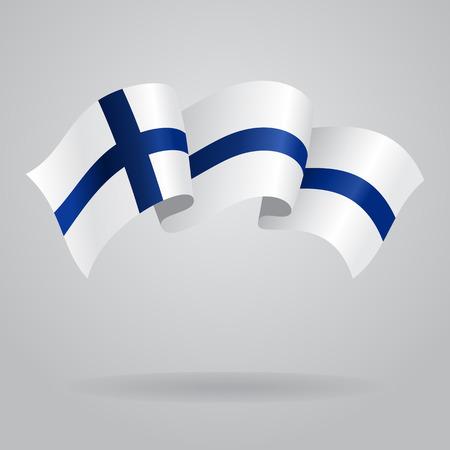 finnish: Finnish waving Flag. Vector illustration