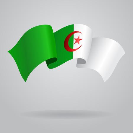 algerian flag: Algerian waving Flag. Vector illustration