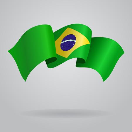 brazilian: Brazilian waving Flag. Vector illustration