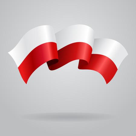 polish flag: Polish waving Flag. Vector illustration Illustration