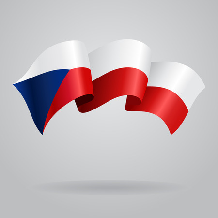 Czech waving Flag. Vector illustration Vector