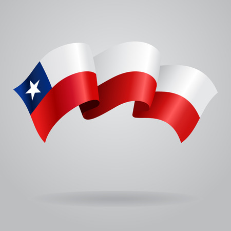 chilean flag: Chilean waving Flag. Vector illustration Illustration
